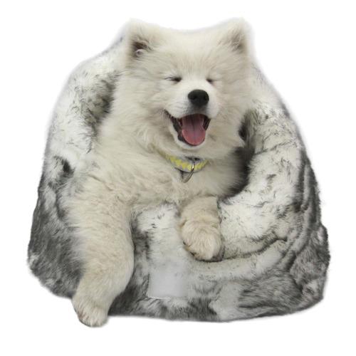 Lux Faux Fur Arctic Pet Igloo