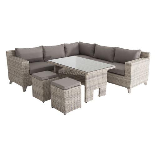 Matheous Collection Rig Outdoor Corner Sofa & Table Set