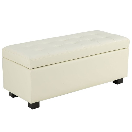 KOutdoorCollective Collection Large Faux Leather Storage Box Ottoman