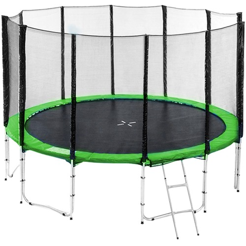 KOutdoorCollective Collection Sky High Springless Trampoline with Basketball Set