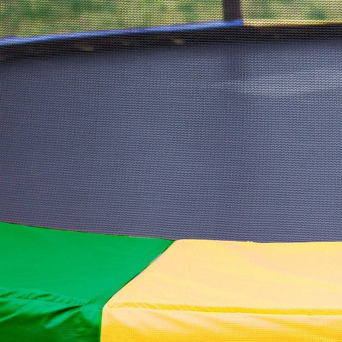 KOutdoorCollective Collection Rainbow Kahuna Trampoline with Basketball Set