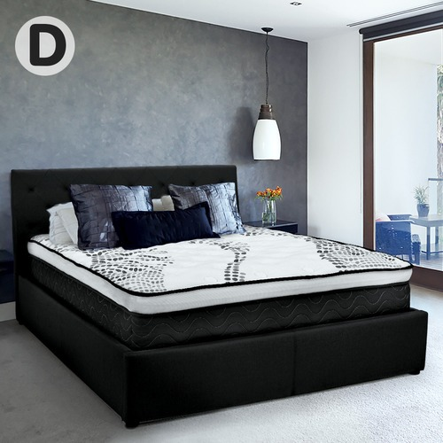 KOutdoorCollective Collection Black Hacienda Gas Lift Bed with Headboard