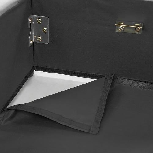KOutdoorCollective Collection Grey Hacienda Gas Lift Bed with Headboard