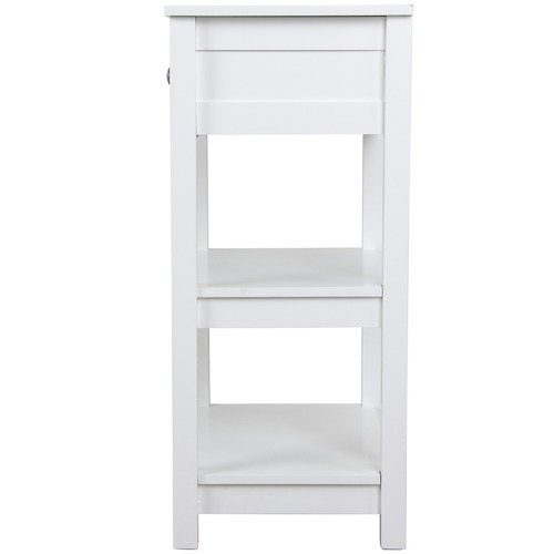 Kodu White Aria Bedside Table with Shelves