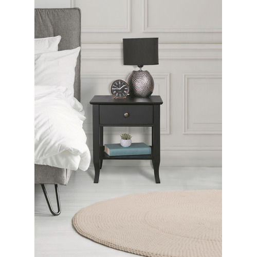 Kodu Black Carman Bedside Table