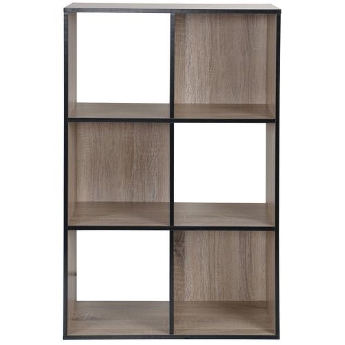 Kodu Black Trim Benson 6 Shelf Organiser