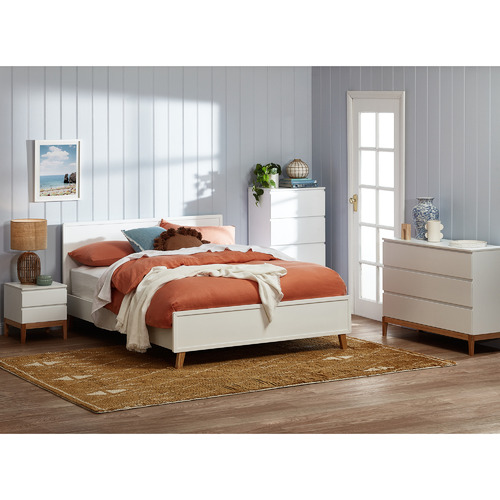 Kodu White Arctic Queen Bed Frame