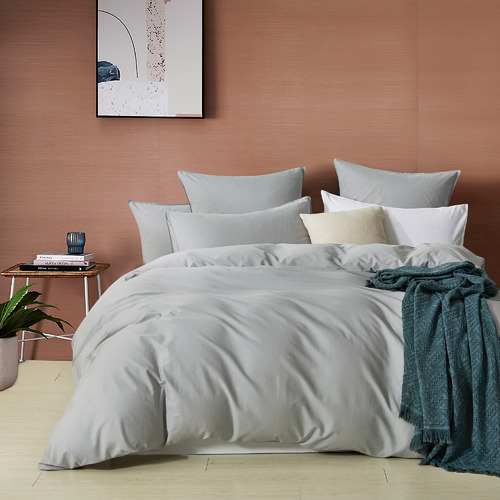 Gioia Casa Silver Grey Vintage Washed Cotton Quilt Cover Set