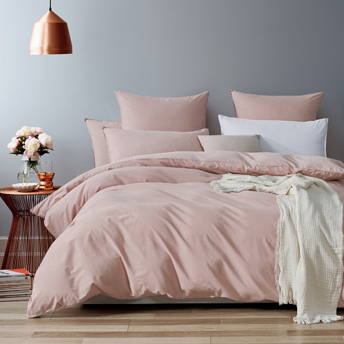 Gioia Casa Pink Vintage Washed Cotton Quilt Cover Set