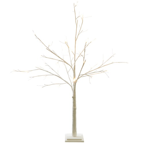 The Christmas Tree Store White Paper Wrapped Faux LED Christmas Tree