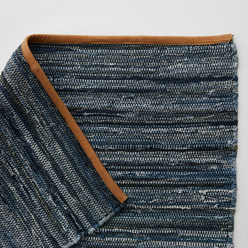 MrJasonGrant Stripy Odyssey Cotton & Leather Rug
