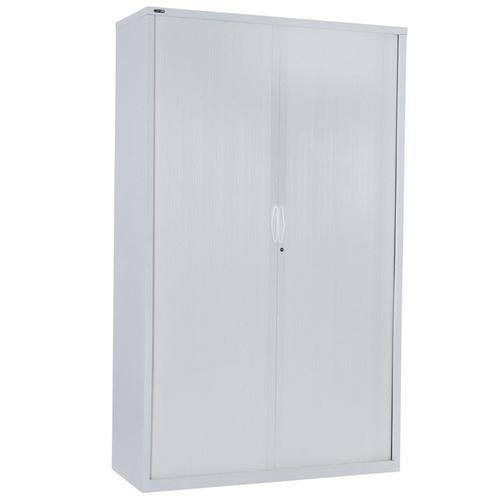 Rein Office 90cm White Remo Tambour Door Cupboard with Shelves