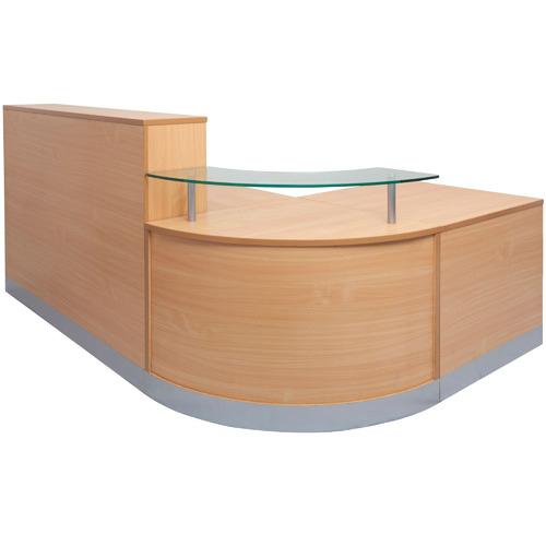 Rein Office Beech Stain Hero Flow Reception Desk