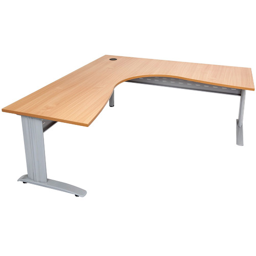 Rein Office Natural-Top Lawson Span Corner Workstation