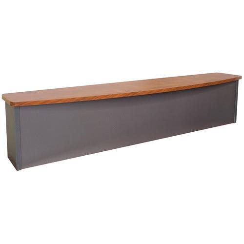 Rein Office Dark Timber Lawson Manager Reception Desk Hob