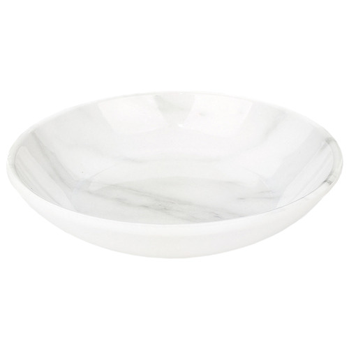 Cattitude White Faux Marble Cat Saucer