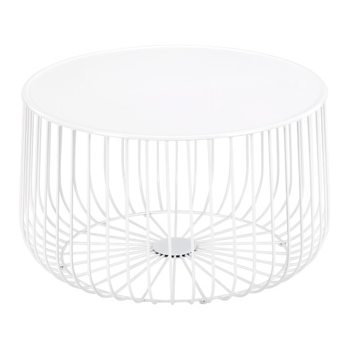 White Trevi Wire Coffee Table