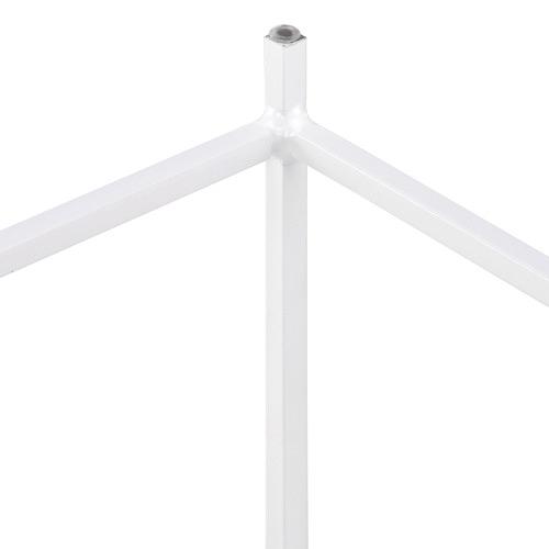 White Pisa Steel Side Table