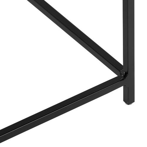 Black  Como Steel Side Table