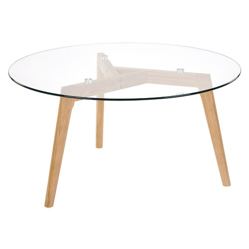 Temple & Webster Stad Glass Top Coffee Table