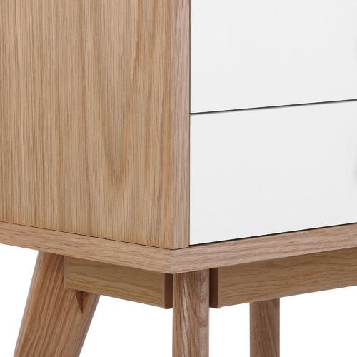 Temple & Webster Torsby Spritz Scandinavian 2 Drawer Bedside Table