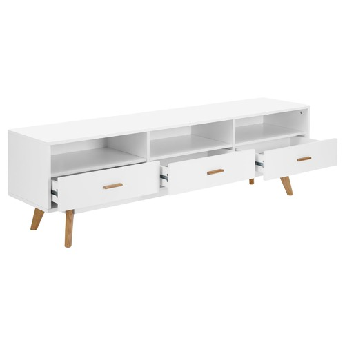 Temple & Webster White Vasby 3 Drawer TV Unit