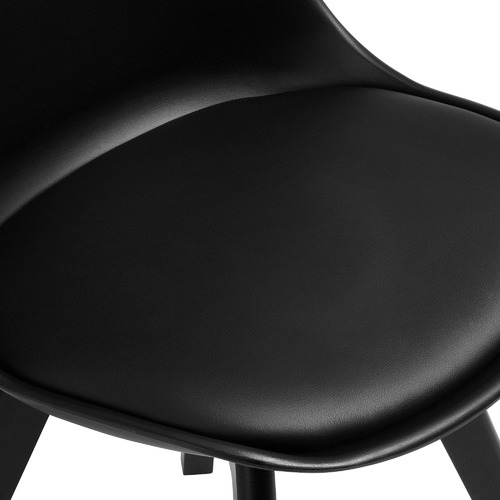 Black Nova Beech & Faux Leather Dining Chairs