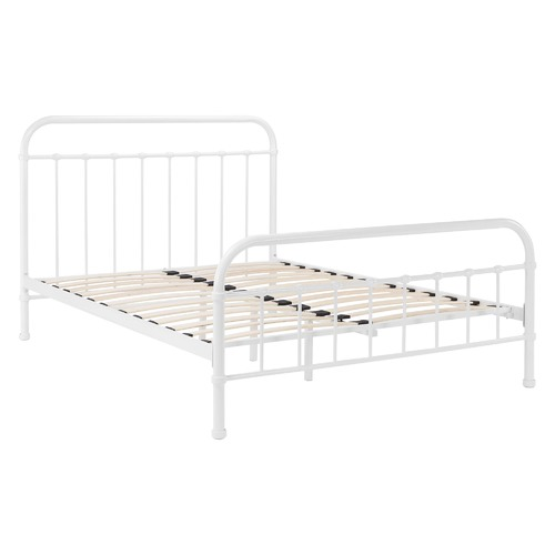 Temple & Webster White Bailey Metal Bed Frame