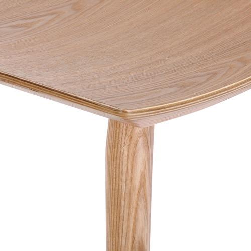 Temple & Webster 66cm Yoko Curved Ash Wood Barstool