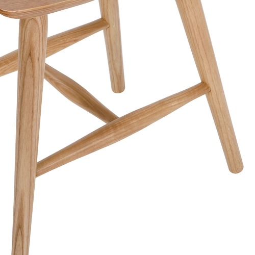 Temple & Webster Yoko Curved Ash Wood Low Stool