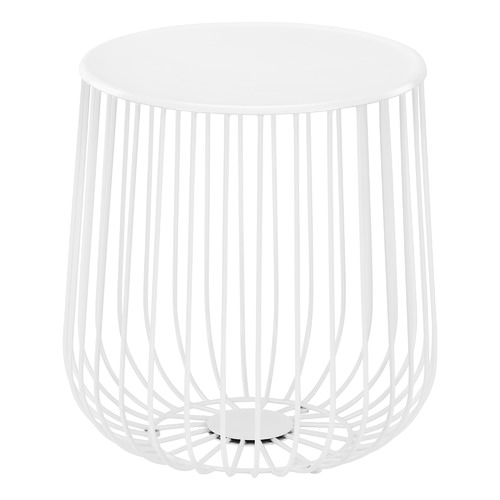 White Trevi Wire Side Table