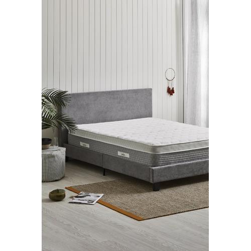 Temple & Webster Grey Jonty Upholstered Bed Frame & Reviews