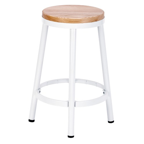 Temple & Webster 66cm  Bailey Metal & Ash Wood Barstool
