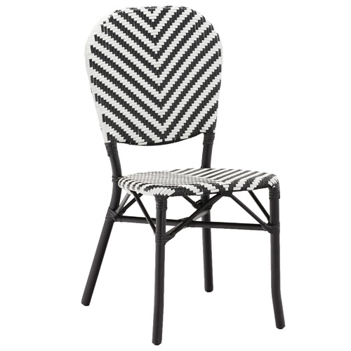 Temple & Webster Black Paris Faux Wicker Cafe Chairs