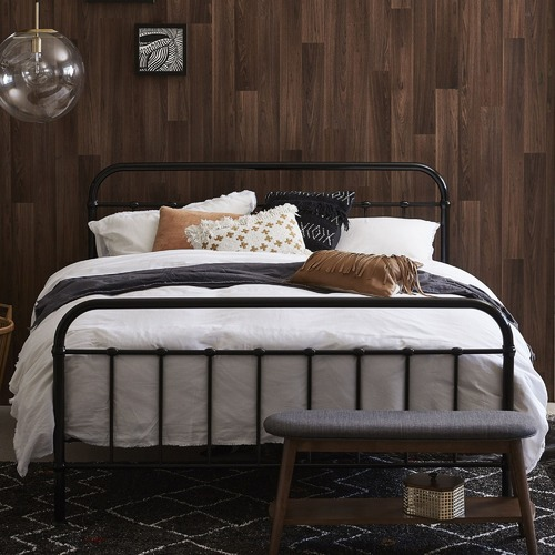 Temple Amp Webster Black Bailey Metal Bed Frame Amp Reviews