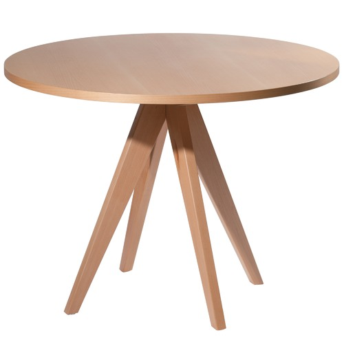 Temple & Webster Lula 100cm Round Beech Wood Dining Table
