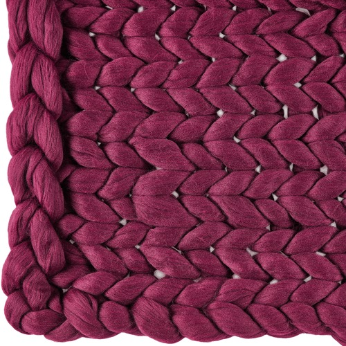 Temple & Webster Pomegranate Chunky Knit Throw
