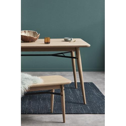 Temple & Webster Oak & Metal Milo 180cm Dining Table