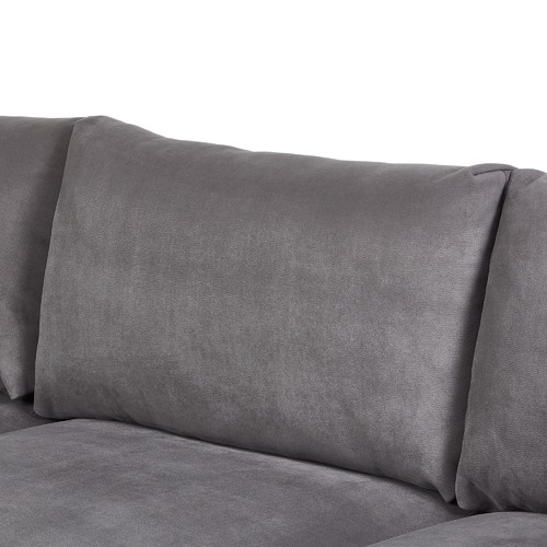 Temple & Webster 3 Seater Grey Zanda L-Shaped Sofa