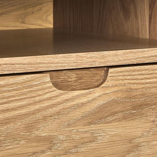 Temple & Webster Olsen Oak Square 1 Drawer Bedside Table