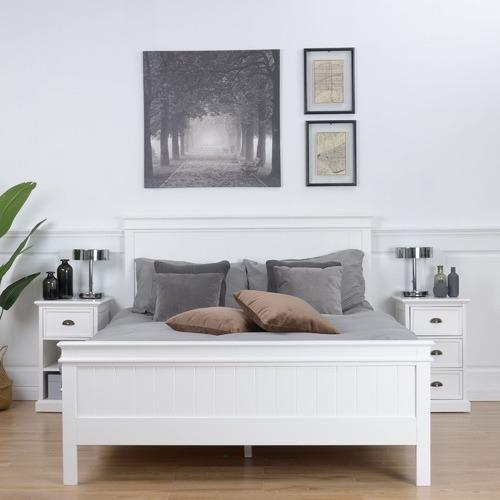 Temple & Webster White Hamptons Queen Bed