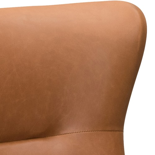 Temple & Webster Jacob Faux Leather Wingback Armchair