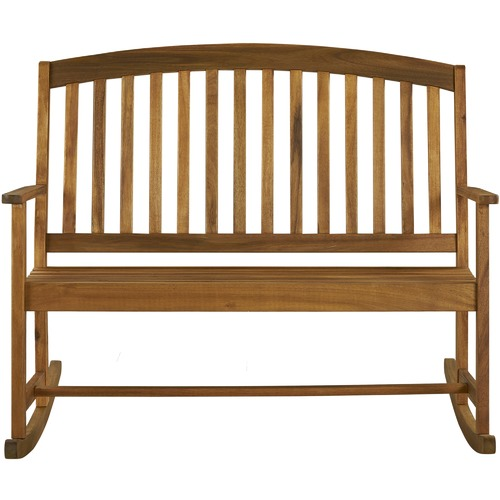 Temple & Webster 2 Seater Rocky Outdoor Timber Rocking Bench