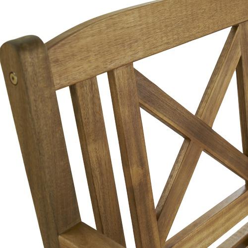 Temple & Webster Santa Cruz 3 Seater Outdoor Timber Bench