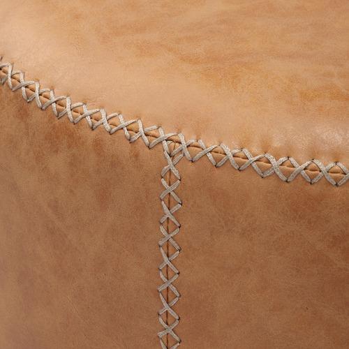 Temple & Webster Reiding Faux Leather Ottoman