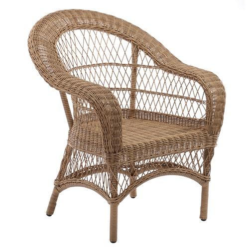 Temple & Webster Raffles Rattan Outdoor Side Table & Armchair Set