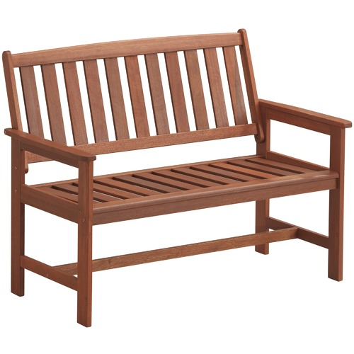Temple & Webster 2 Seater Parklands Timber Outdoor Bench with Arm Rests