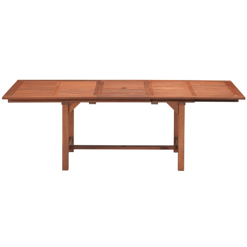 Temple & Webster Parklands Timber Outdoor Extendable Dining Table