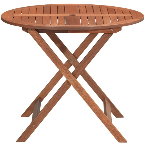 Temple & Webster Parklands Round Timber Outdoor Dining Table