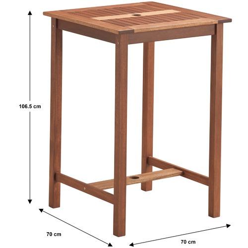 Temple & Webster Parklands Timber Outdoor Bar Table & Stools Set